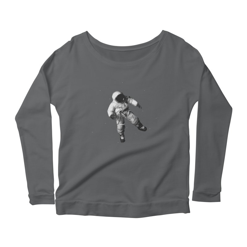 Among the stars Women's Scoop Neck Longsleeve T-Shirt by planet64's Artist Shop