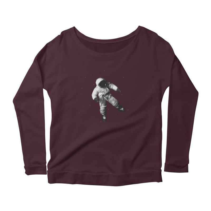 Among the stars Women's Scoop Neck Longsleeve T-Shirt by planet64's Artist Shop
