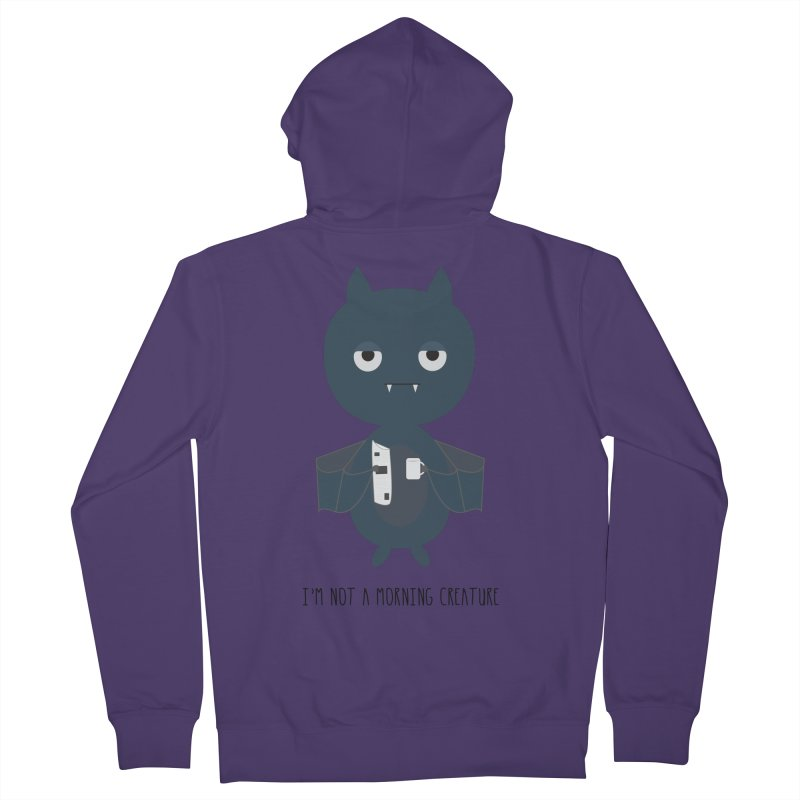 I'm not a morning creature Women's French Terry Zip-Up Hoody by planet64's Artist Shop