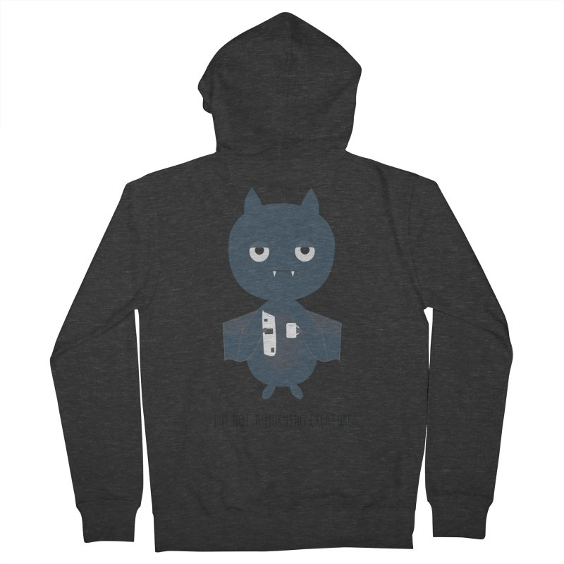 I'm not a morning creature Men's French Terry Zip-Up Hoody by planet64's Artist Shop