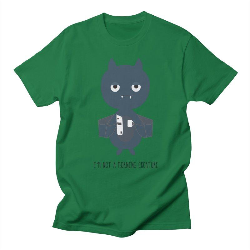 I'm not a morning creature Men's Regular T-Shirt by planet64's Artist Shop