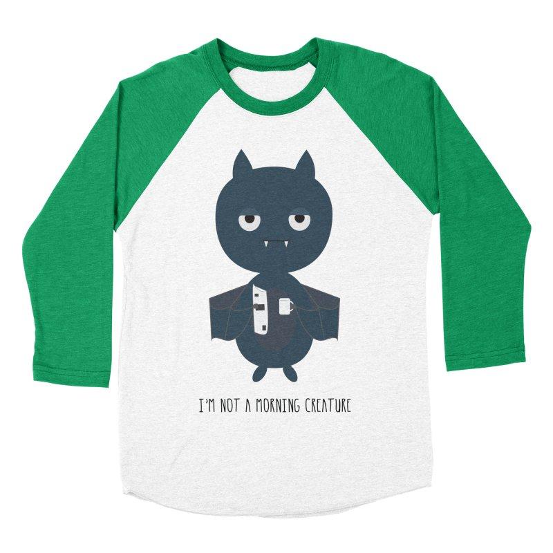 I'm not a morning creature Women's Baseball Triblend Longsleeve T-Shirt by planet64's Artist Shop