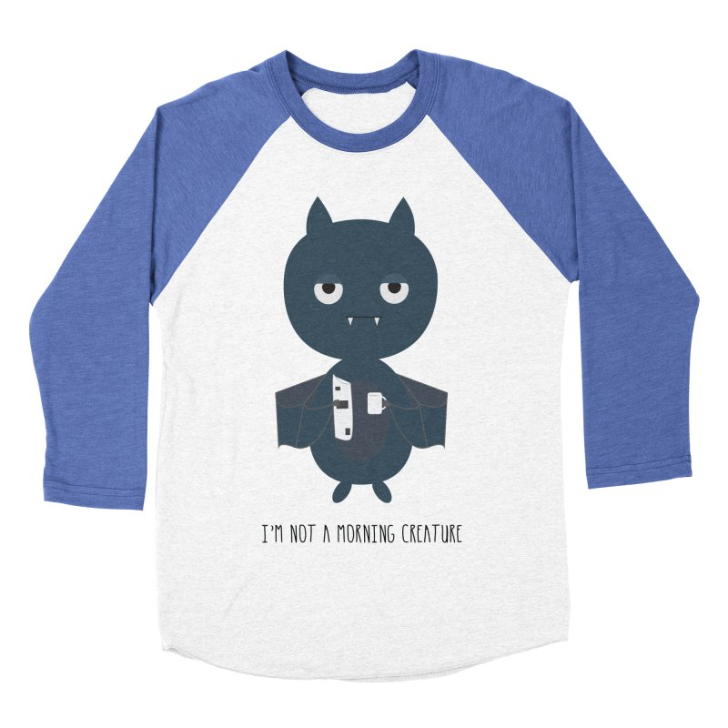 I'm not a morning creature Men's Baseball Triblend Longsleeve T-Shirt by planet64's Artist Shop