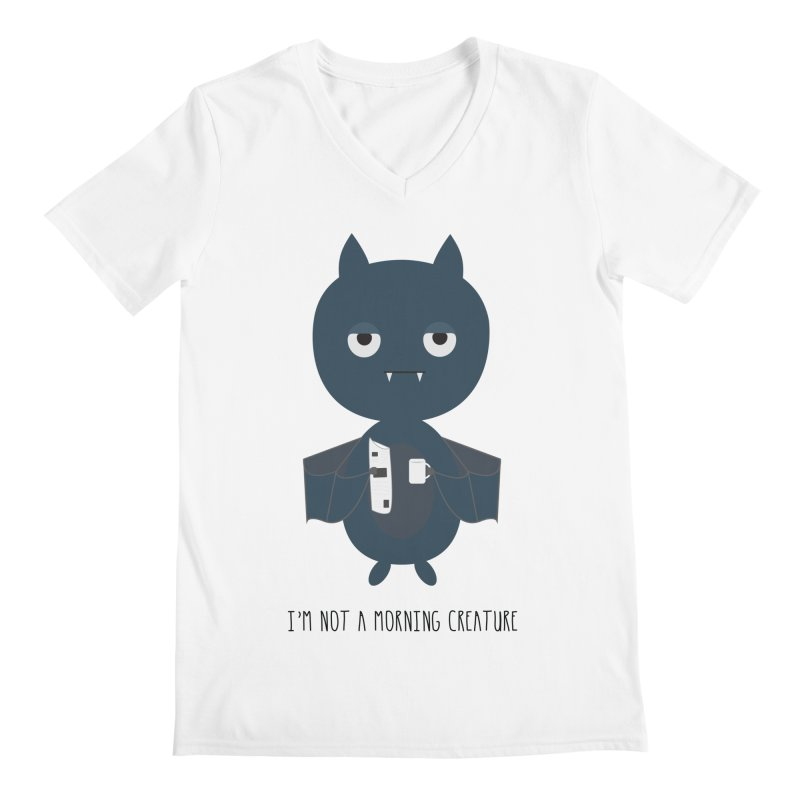 I'm not a morning creature Men's Regular V-Neck by planet64's Artist Shop