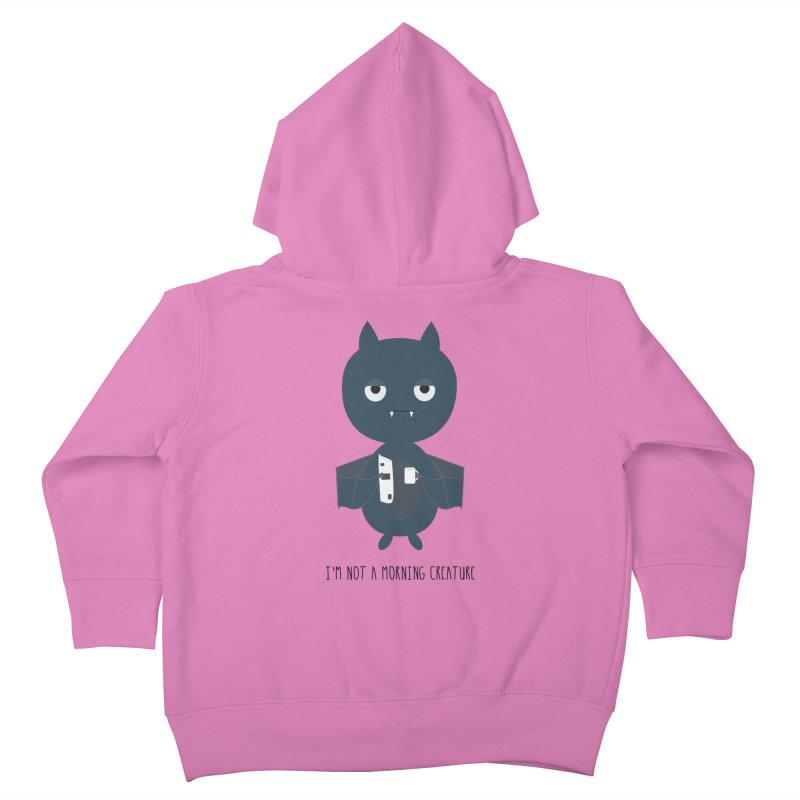 I'm not a morning creature Kids Toddler Zip-Up Hoody by planet64's Artist Shop