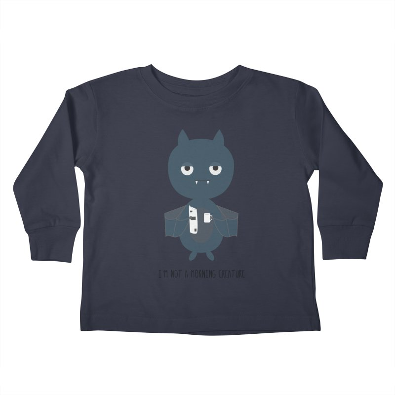 I'm not a morning creature Kids Toddler Longsleeve T-Shirt by planet64's Artist Shop