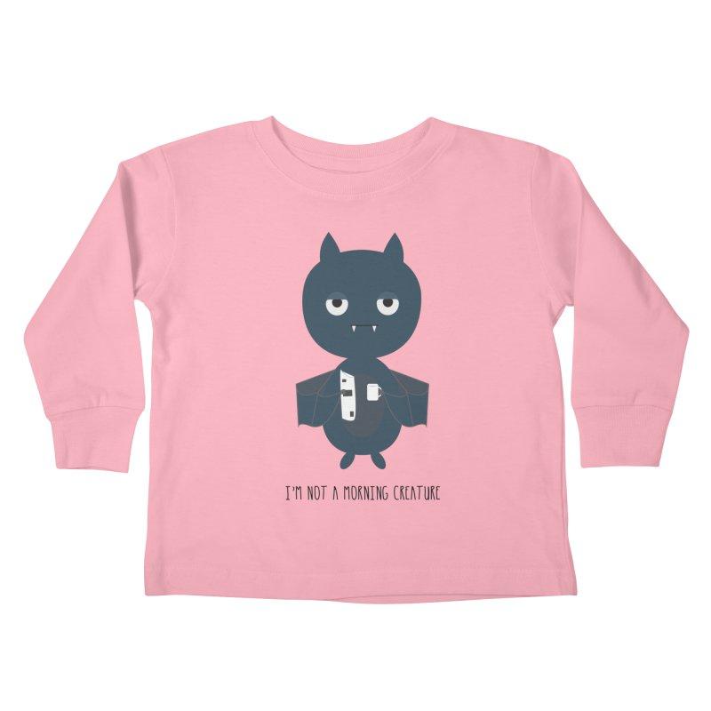 I'm not a morning creature Kids Toddler Longsleeve T-Shirt by planet64's Artist Shop