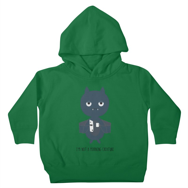 I'm not a morning creature Kids Toddler Pullover Hoody by planet64's Artist Shop