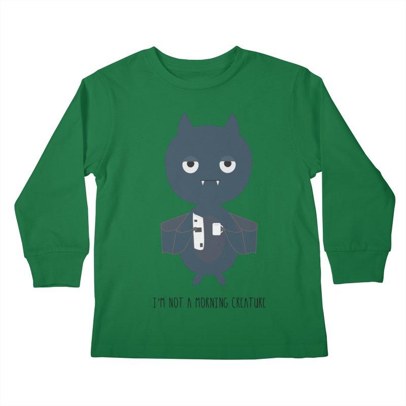 I'm not a morning creature Kids Longsleeve T-Shirt by planet64's Artist Shop