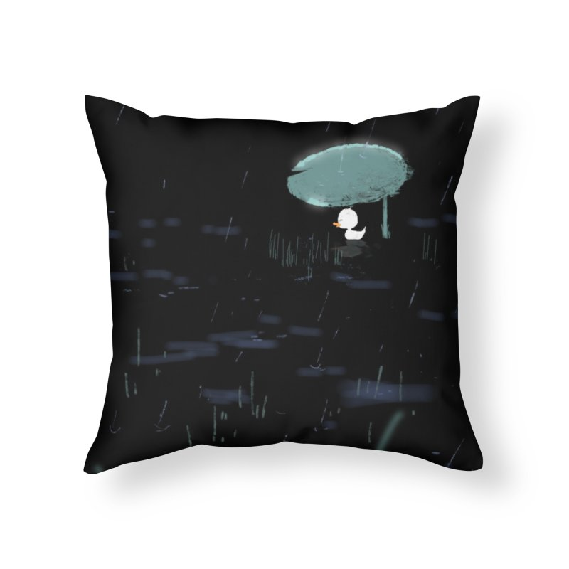Rain Home Throw Pillow by planet64's Artist Shop