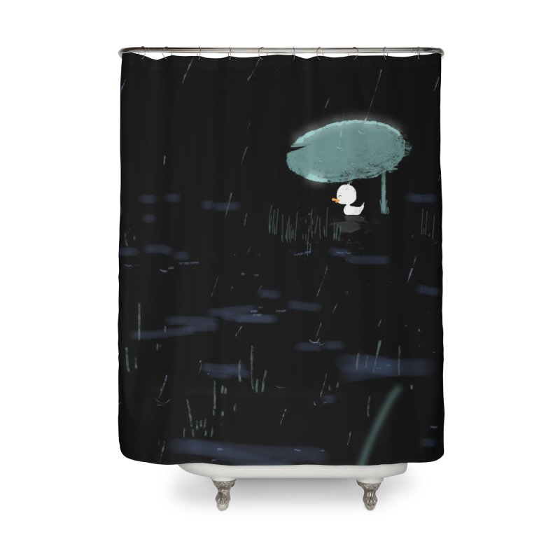 Rain Home Shower Curtain by planet64's Artist Shop