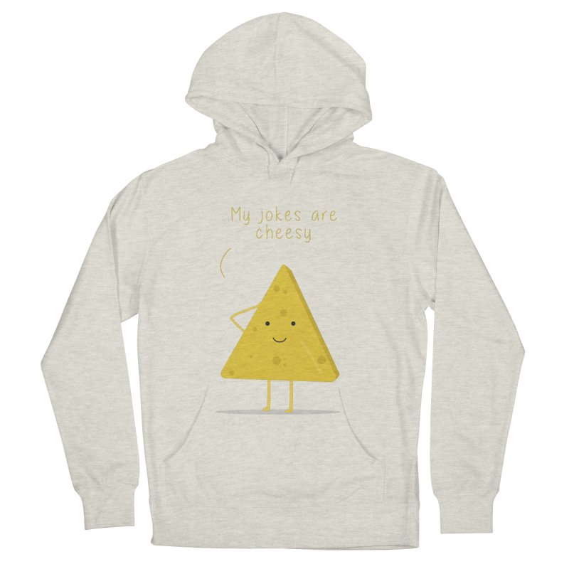 My jokes are cheesy Women's French Terry Pullover Hoody by planet64's Artist Shop