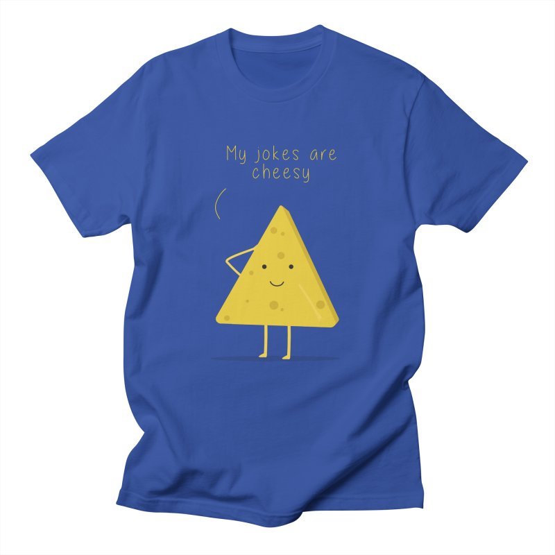 My jokes are cheesy Men's Regular T-Shirt by planet64's Artist Shop