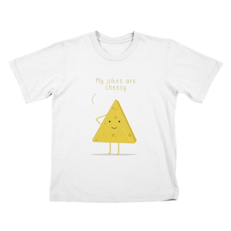 My jokes are cheesy Kids T-Shirt by planet64's Artist Shop