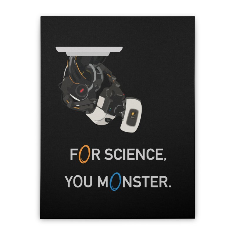 For Science Home Stretched Canvas by planet64's Artist Shop