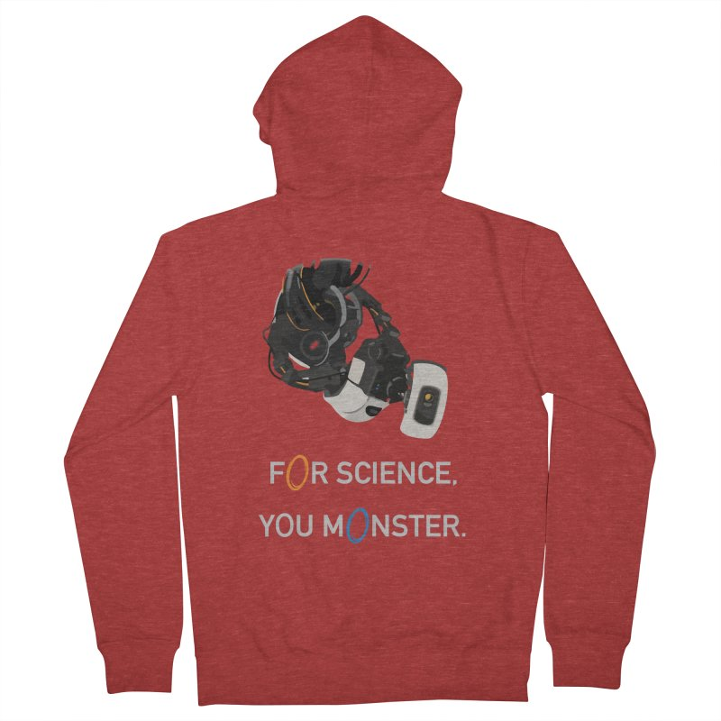 For Science Women's French Terry Zip-Up Hoody by planet64's Artist Shop
