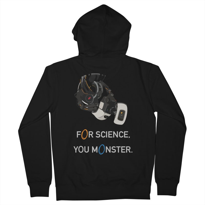 For Science Men's French Terry Zip-Up Hoody by planet64's Artist Shop