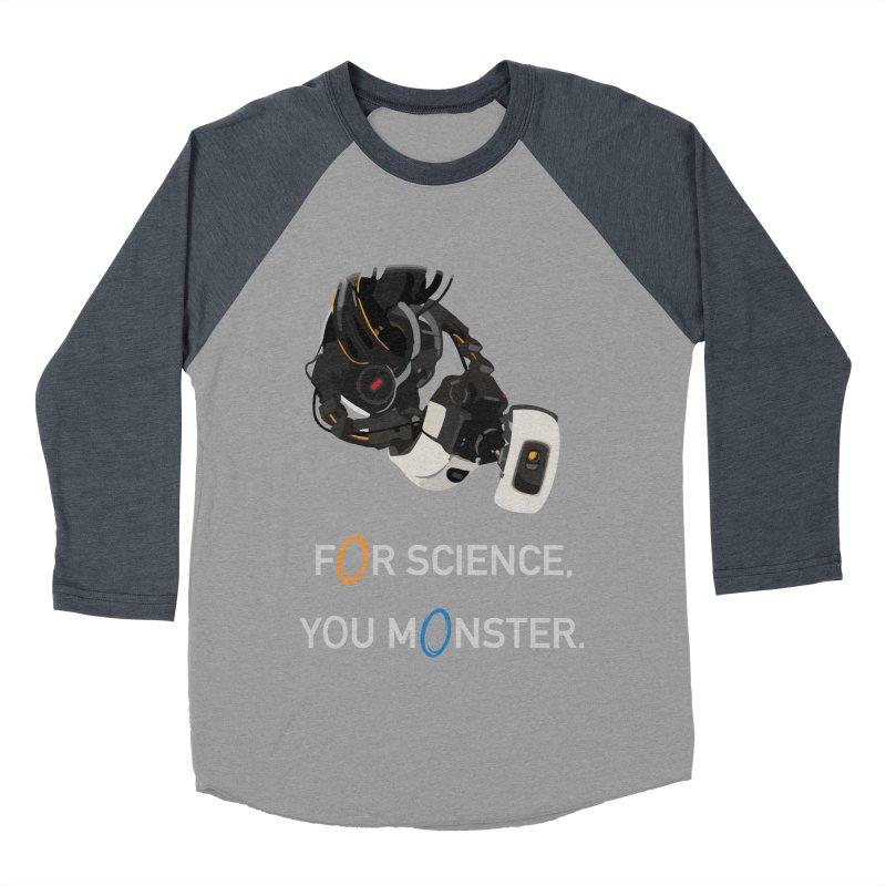 For Science Women's Baseball Triblend Longsleeve T-Shirt by planet64's Artist Shop