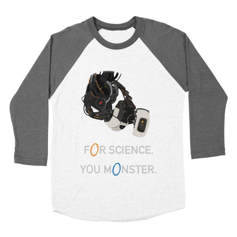 For Science Men's Baseball Triblend Longsleeve T-Shirt by planet64's Artist Shop