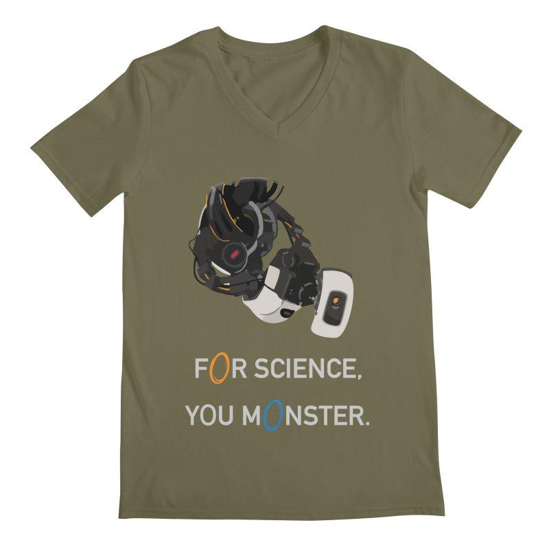 For Science Men's Regular V-Neck by planet64's Artist Shop