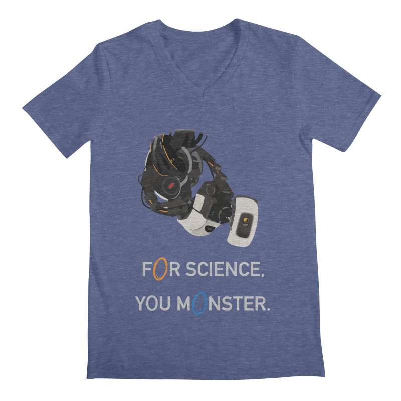 For Science Men's Regular V-Neck by planet64's Artist Shop
