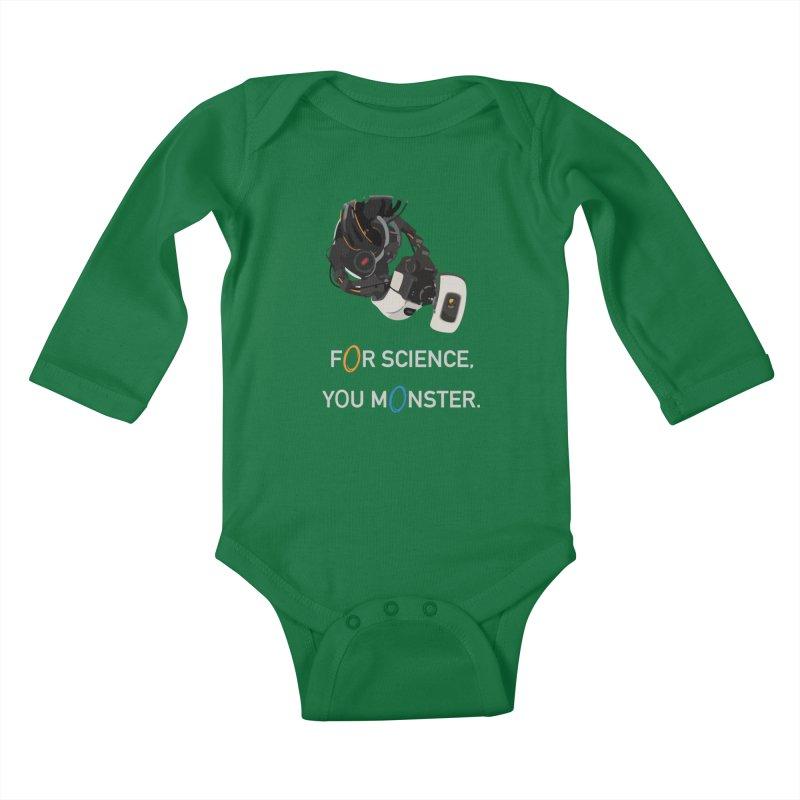 For Science Kids Baby Longsleeve Bodysuit by planet64's Artist Shop