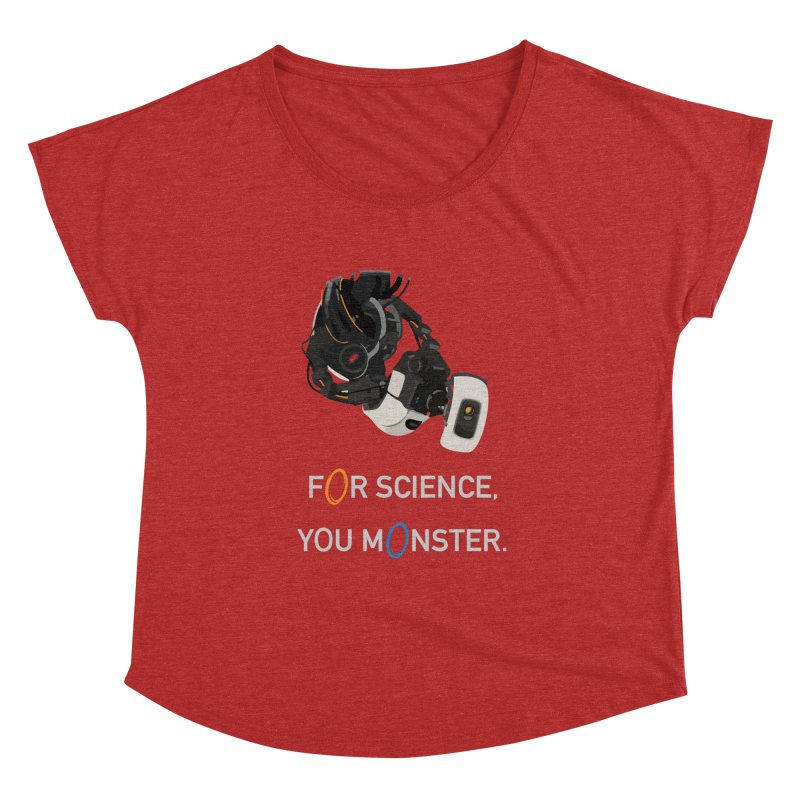 For Science Women's Dolman Scoop Neck by planet64's Artist Shop