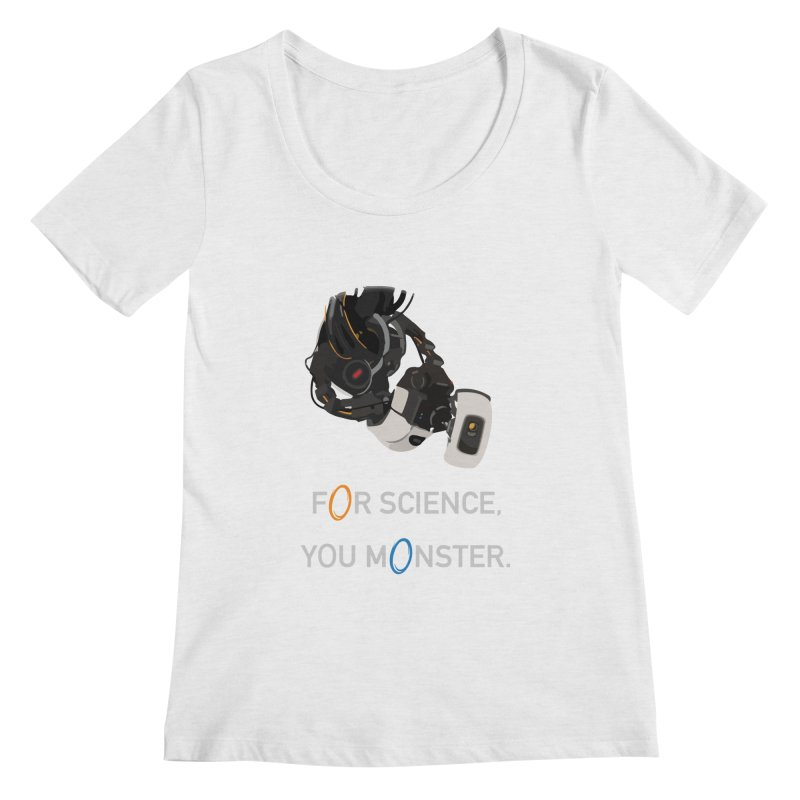 For Science Women's Regular Scoop Neck by planet64's Artist Shop