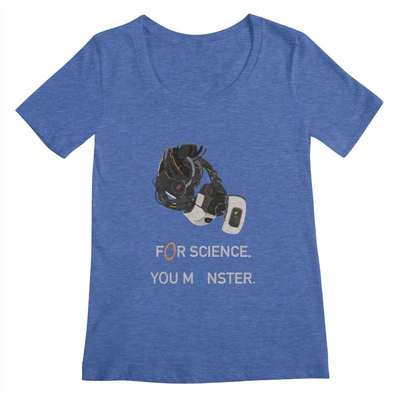 For Science Women's Regular Scoop Neck by planet64's Artist Shop