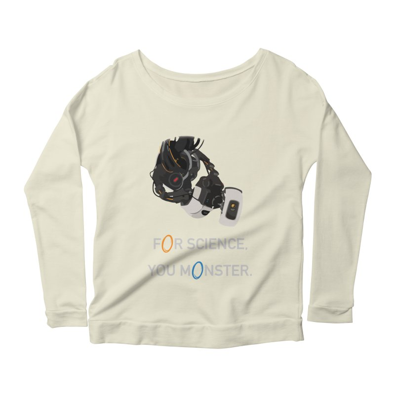 For Science Women's Scoop Neck Longsleeve T-Shirt by planet64's Artist Shop