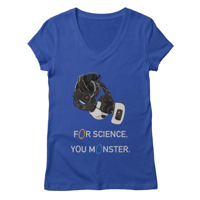 For Science Women's Regular V-Neck by planet64's Artist Shop