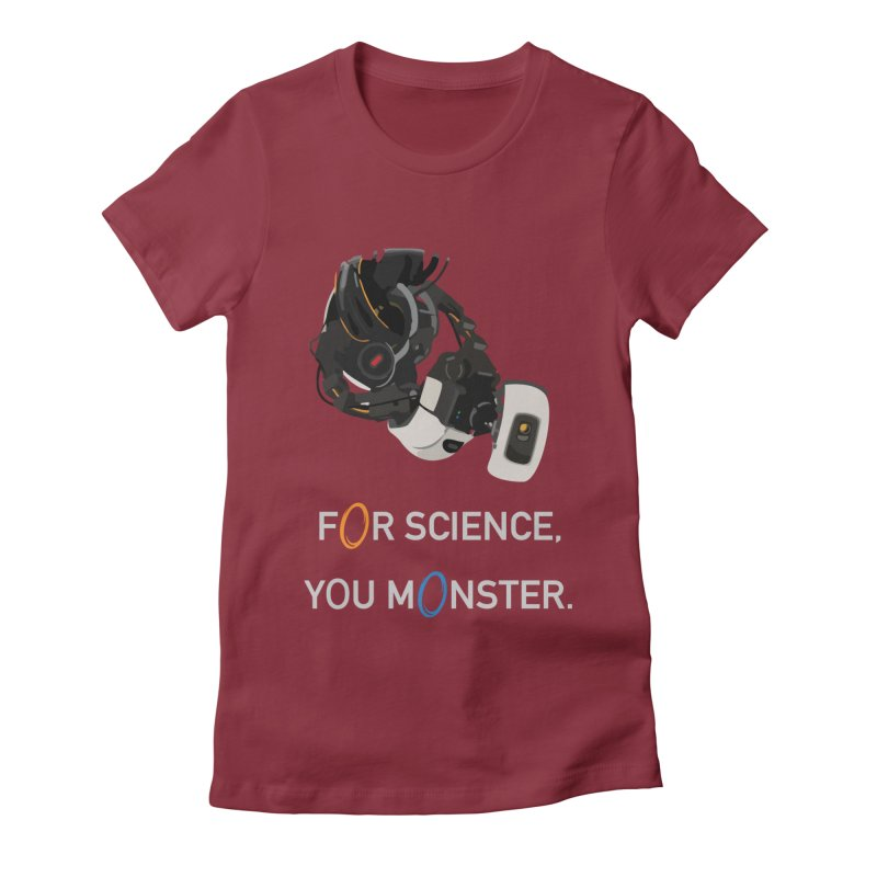 For Science Women's Fitted T-Shirt by planet64's Artist Shop