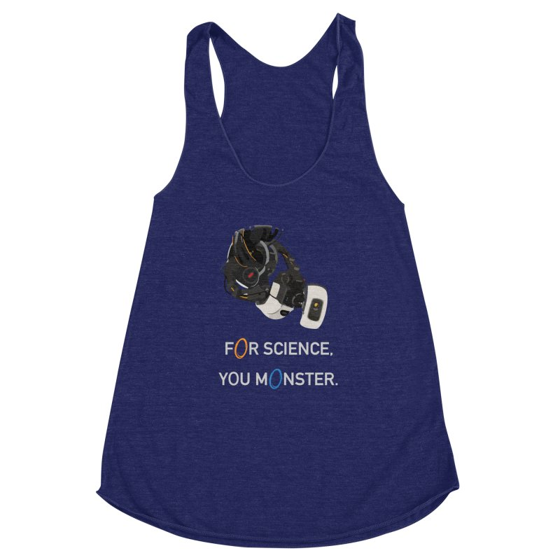 For Science Women's Racerback Triblend Tank by planet64's Artist Shop