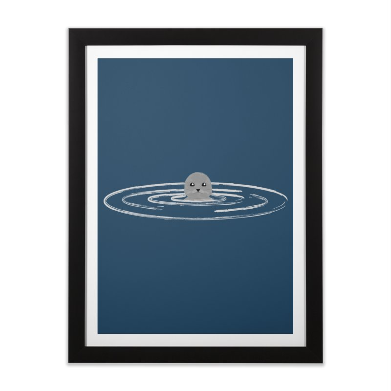 Just a Seal Home Framed Fine Art Print by planet64's Artist Shop