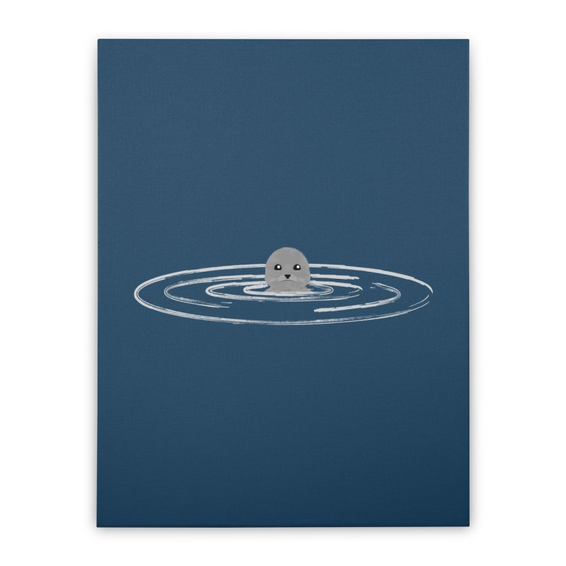 Just a Seal Home Stretched Canvas by planet64's Artist Shop