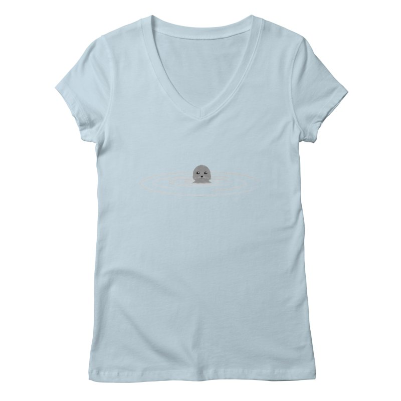Just a Seal Women's Regular V-Neck by planet64's Artist Shop