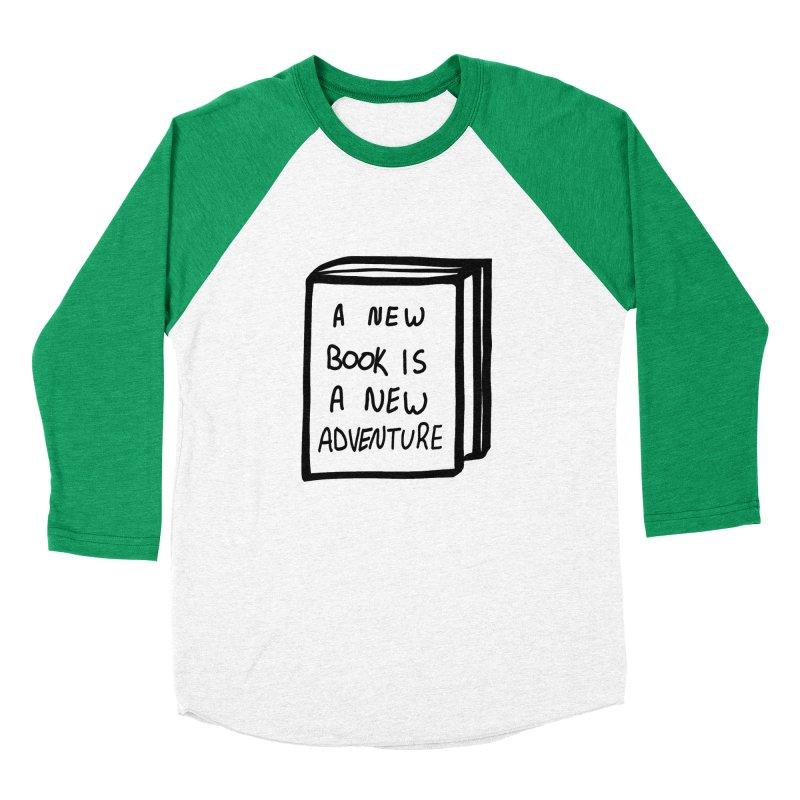 New Adventures Men's Baseball Triblend Longsleeve T-Shirt by planet64's Artist Shop