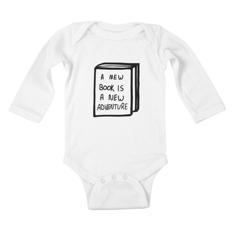 New Adventures Kids Baby Longsleeve Bodysuit by planet64's Artist Shop