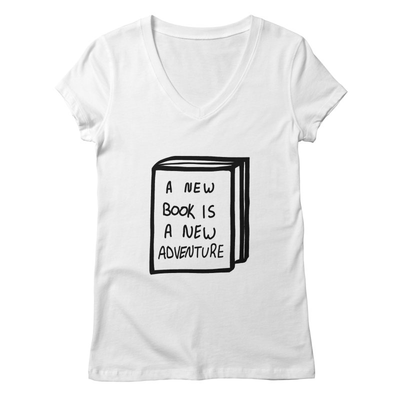 New Adventures Women's Regular V-Neck by planet64's Artist Shop