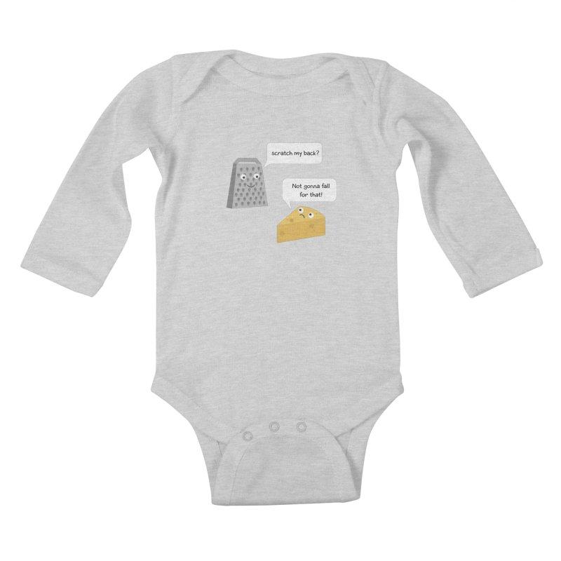 Scratch my back? Kids Baby Longsleeve Bodysuit by planet64's Artist Shop