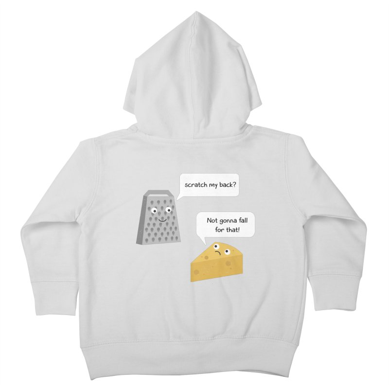 Scratch my back? Kids Toddler Zip-Up Hoody by planet64's Artist Shop