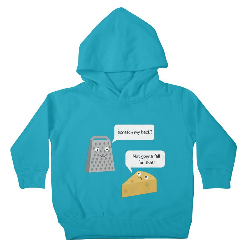 Scratch my back? Kids Toddler Pullover Hoody by planet64's Artist Shop