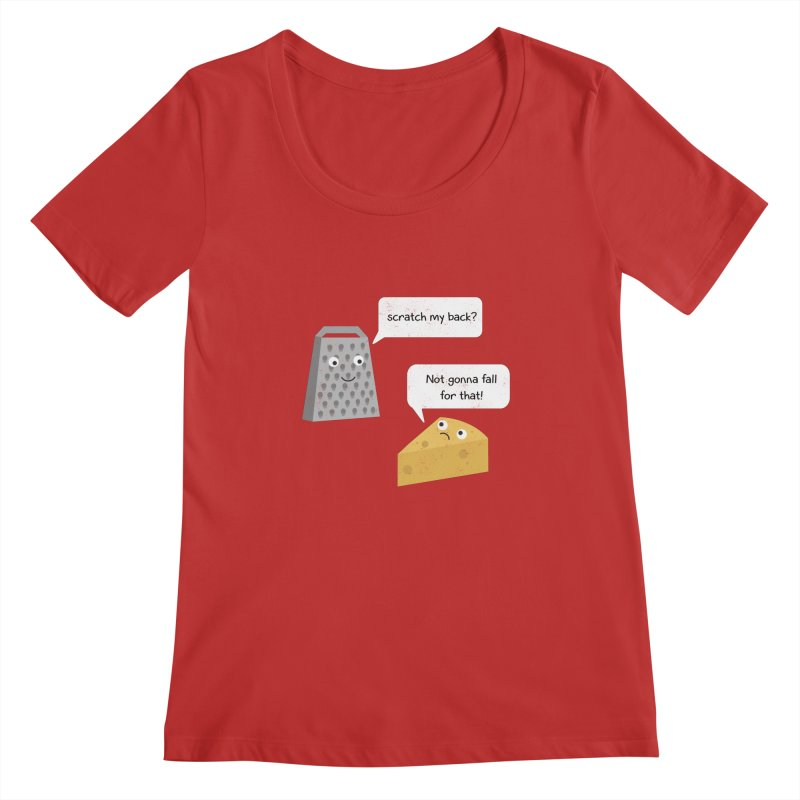 Scratch my back? Women's Regular Scoop Neck by planet64's Artist Shop
