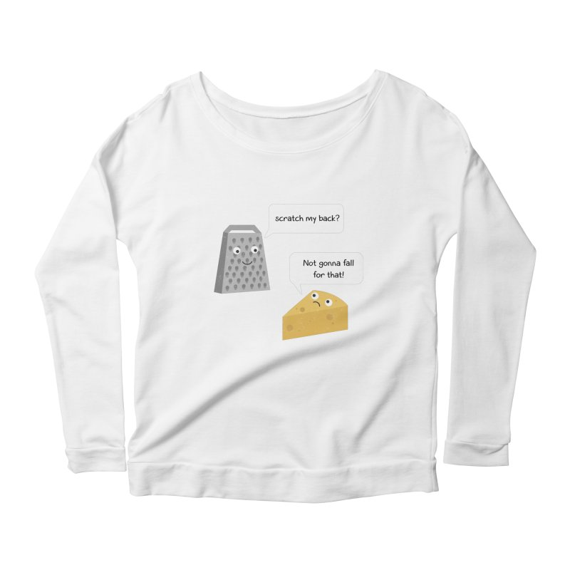 Scratch my back? Women's Scoop Neck Longsleeve T-Shirt by planet64's Artist Shop