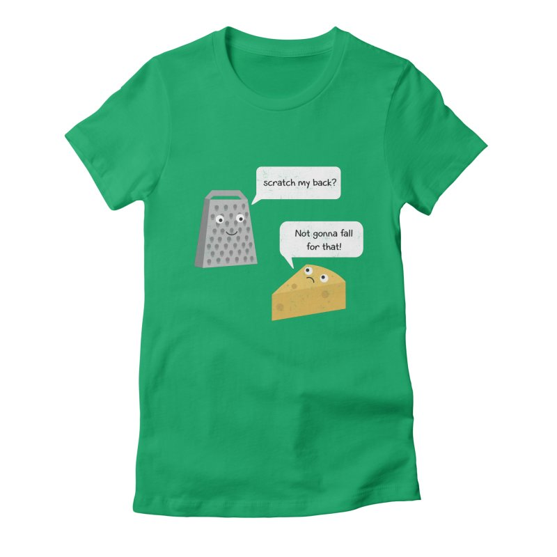 Scratch my back? Women's Fitted T-Shirt by planet64's Artist Shop