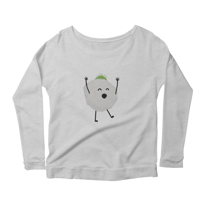 You rock! Women's Scoop Neck Longsleeve T-Shirt by planet64's Artist Shop