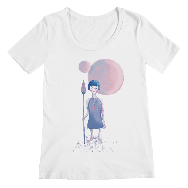 Girl from Kepler planet Women's Scoopneck by jrbenavente's Shop