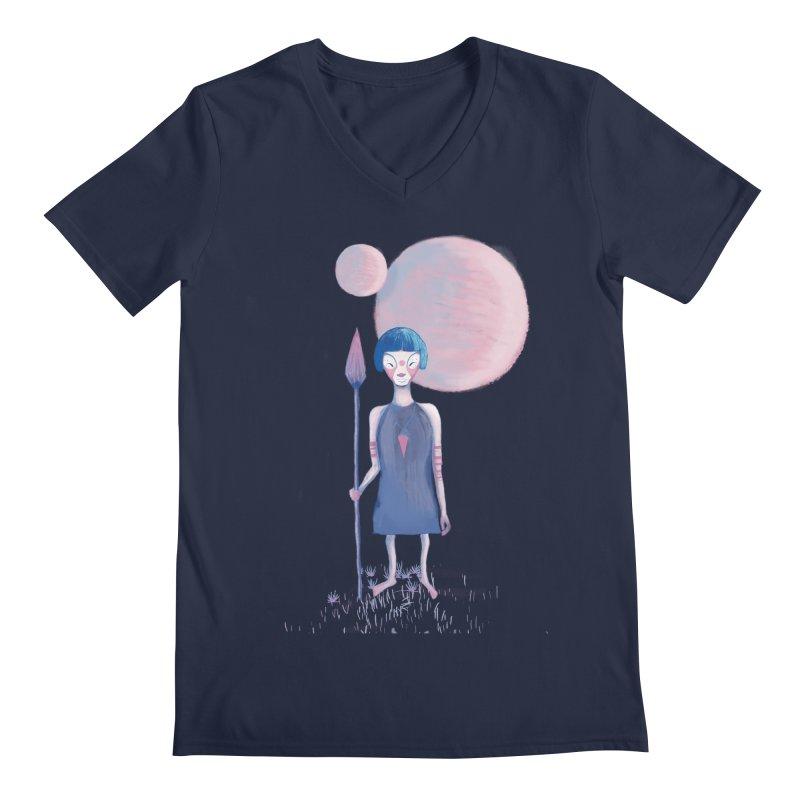 Girl from Kepler planet Men's V-Neck by jrbenavente's Shop