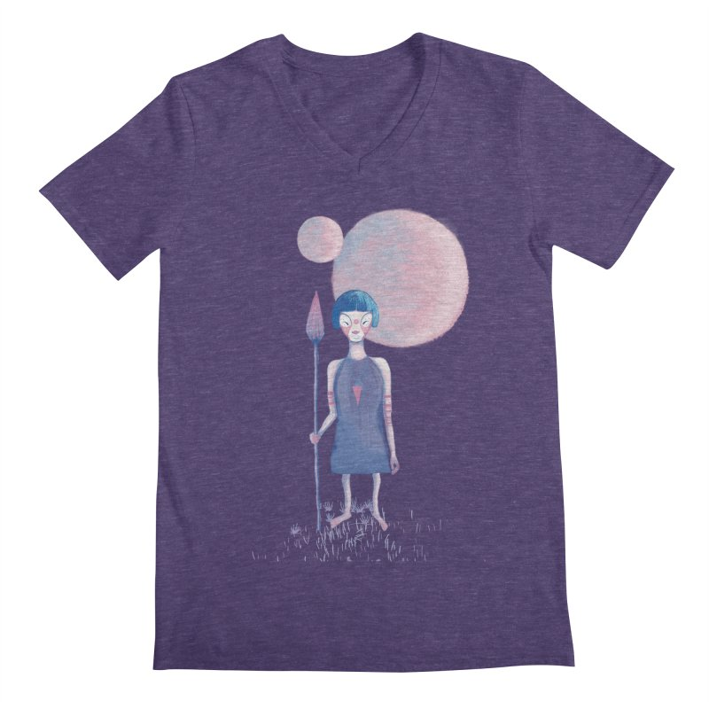 Girl from Kepler planet Men's V-Neck by jrbenavente's Shop