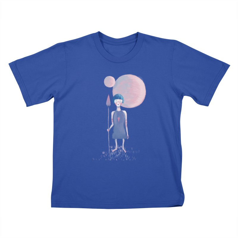 Girl from Kepler planet Kids T-shirt by jrbenavente's Shop